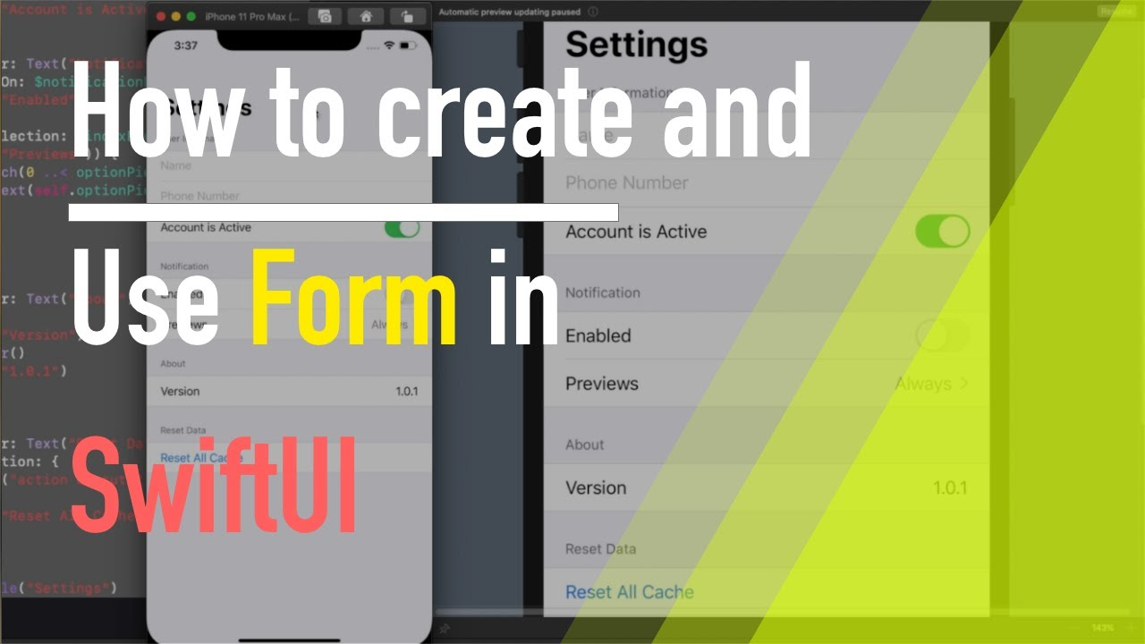 How to create and use Form in SwiftUI