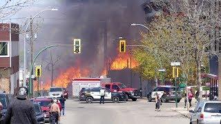 Fire devours downtown Brandon, Man.