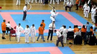 Mens Team Kumite GBR - Sonny Roberts (AKA) v Romania (SHIRO) RD 1