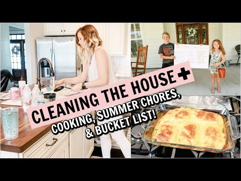 CLEAN THE HOUSE WITH ME 2019 // CLEANING, COOKING, CHORE CHART,  SUMMER BUCKET LIST