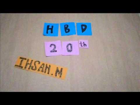 Ihsan Maulana Mustofa 20th Birthday