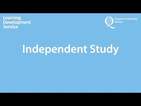 Independent Study Workshop