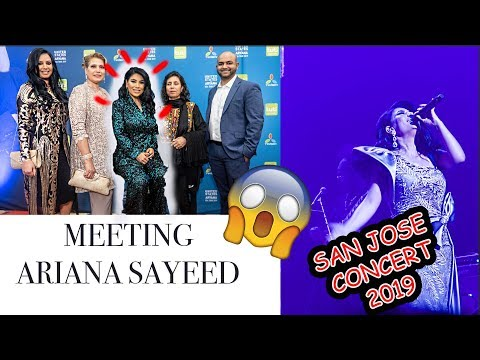 ARYANA SAYEED SAN JOSE CONCERT 2019 Vlog #AryanaSayeedConcert2019 #AryanaSayeedSanjoseConcert