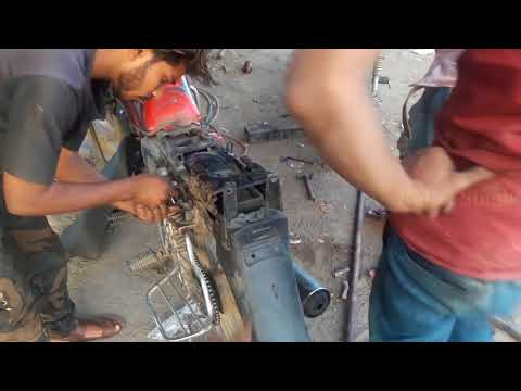 how to motorcycle band chassis repair - bullet singh boisar