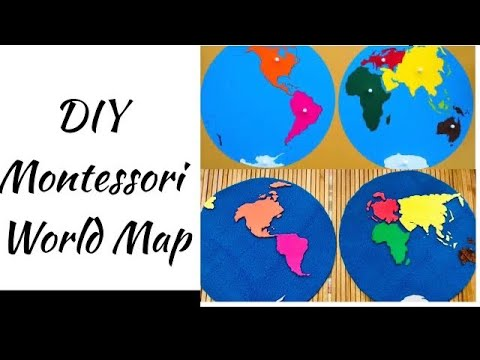 DIY Montessori World Map