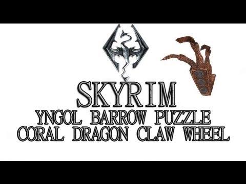 Skyrim Yngol Barrow Puzzle - Coral Dragon Claw Wheel