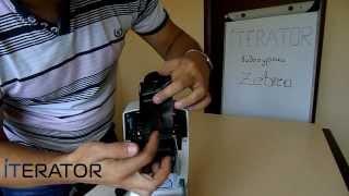 Видеоурок Zebra TLP 2824 Plus  Загрузка риббона, внутренний тест