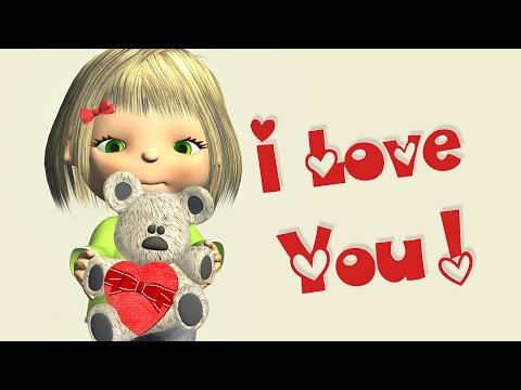 I Love You message video 💕  Baby Girl singing I Love You - Прикольное видео онлайн