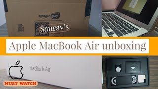 """Apple MacBook Air 2019 unboxing : Delivered by Amazon : 13"""" Apple Laptop"""