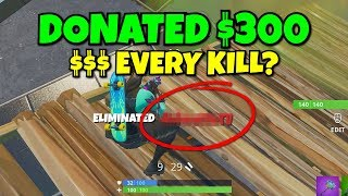 i killed this twitch streamer and donated every kill he got... (he's so fast)