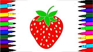 How to draw a Strawberry || how to draw a strawberry! draw fruits!