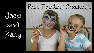 Face Painting Challenge ~ Jacy and Kacy