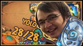 The best way to deal with a yolo 28/28   Elemental Shaman   Rastakhan's Rumble   Hearthstone