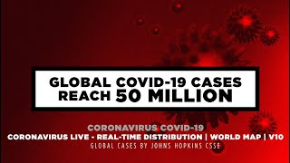 Global Covid-19 Cases reach 50 Million | World Map - Part.10 ☆☆☆☆☆