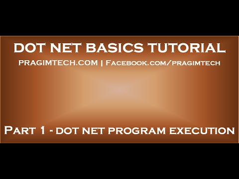 DotNet Program Execution