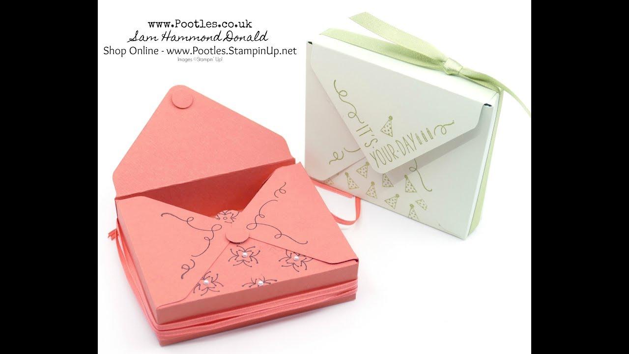 Stampin Up Around The Corner Envelope Punch Board Box Youtube