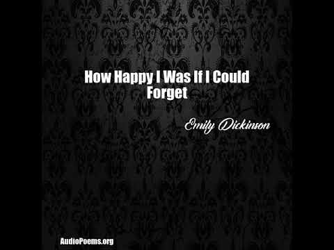 How Happy I Was If I Could Forget (Emily Dickinson Poem)