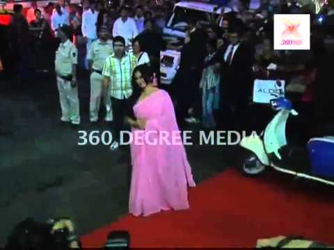 Actress Divya Dutta in a pink saree at the music launch of 'Special Chabbis'