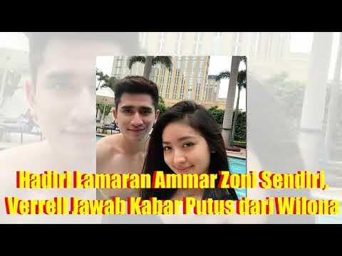 Gosip Artis Selebriti Hadiri Lamaran Ammar Zoni Sendiri, Verrell Jawab Kabar Putus dari Wilona