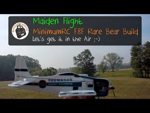 Maiden Flight - MinimumRC F8F Rare Bear Pro