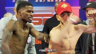 OH DAMN! MAURICE HOOKER PUSHES ALEX SAUCEDO DURING WEIGH IN FACE OFF!