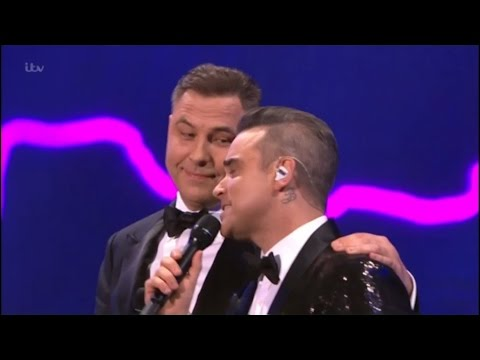 Robbie Williams & David Walliams sing a duet, very funny - The Royal Variety Performance 2016