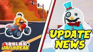 Roblox Jailbreak LIVE!! NEW WINTER UPDATE NEWS! New Cars, Snow Map, And Trains!? | 🔴 Roblox Live
