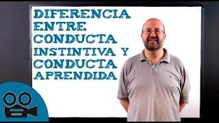 Diferencia entre conducta instintiva y conducta aprendida