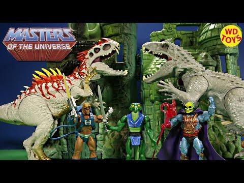 New Masters Of The Universe Lizard Man Vs Indominus Rex / Skeletor, Heman Jurassic World Unboxing