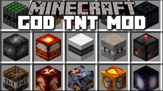 Minecraft GOD TNT MOD / EXPLOSIVE SUPERNOVA AND NUKE!! Minecraft