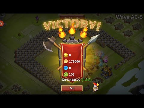 How To Beat Hbm AA AB And AC Castle Clash!!!