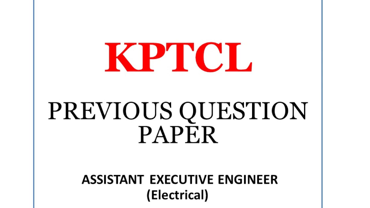 Kpcl papers pdf