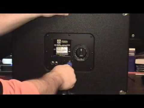 Ampeg Speaker Cabinets L Pad Attenuator and Crossover - YouTube