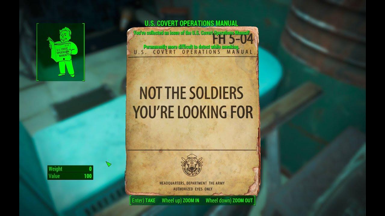 U S Covert Operations Manual Magazine Federal Surveillance Center K 21b Fallout 4 Youtube