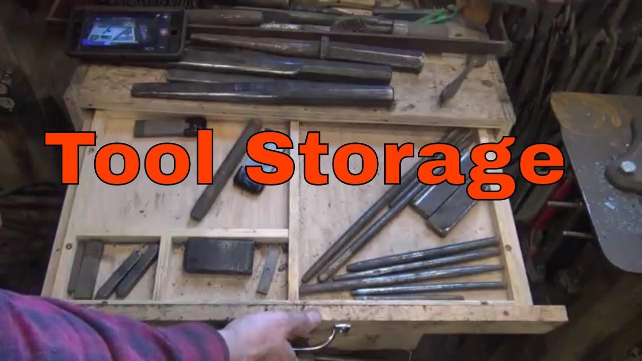 Tool Storage Options For The Blacksmith Shop   Basic Blacksmithing