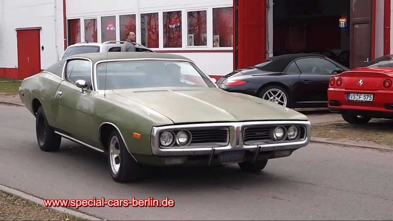 Dodge Charger 1972 V8 318 5,2 l Special Cars Berlin - YouTube