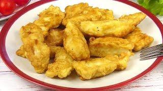 Рыбка на Ужин за 10 Минут. /Самый простой и вкусный универсальный кляр.