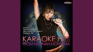 You and Me Together (In the Style of Hannah Montana) (Karaoke Version)