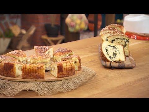 خبز على شكل كيش + خبز بالسبانخ و الجبن / مخبزتي / فاطمة الزهراء بوعدو حفصي / Samira TV
