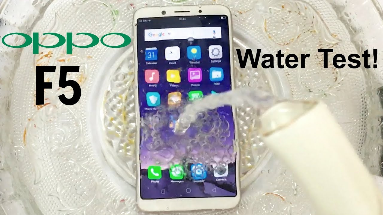 the best attitude 28154 957bc Oppo F5 Water Test! Actually Waterproof?