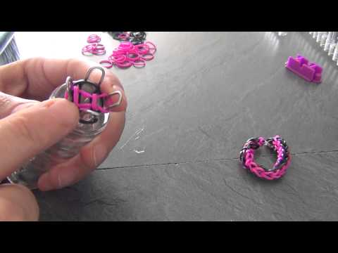 tuto bracelet lastique loom 4 c t s au tricotin sans machine facile enfant youtube. Black Bedroom Furniture Sets. Home Design Ideas