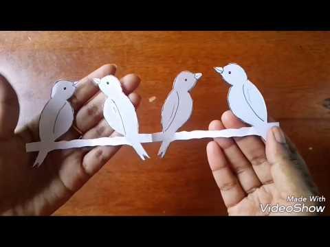 #kirigami #papercraft #diy KIRIGAMI PAPER BIRD MAKING TUTORIAL   Aloha Crafts