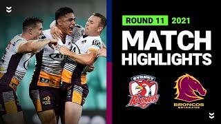 Roosters v Broncos Match Highlights   Round 11, 2021   Telstra Premiership   NRL