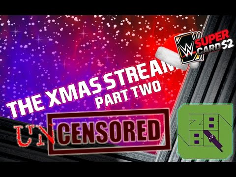 WWE SuperCard : Unedited, Uncensored.. RTG Xmas Stream! (Bad