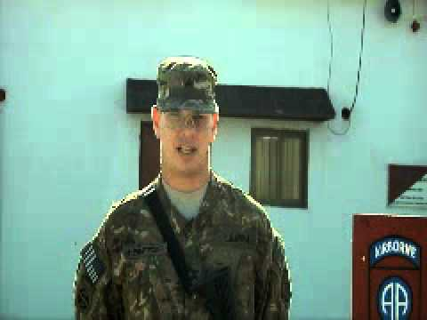 2011 Thanksgiving Greetings:  Sgt. Michael Boettger - Omaha, NE