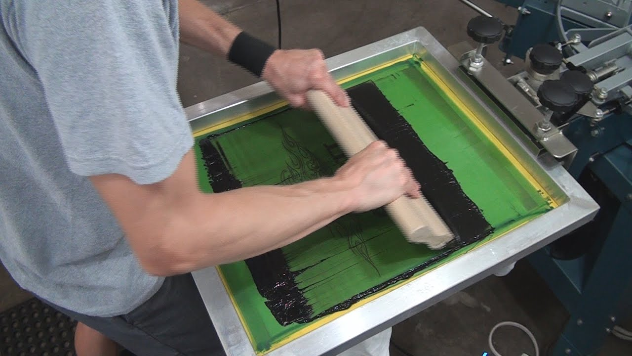 How To Screen Print 2 Color Press Set Up Test Shirt