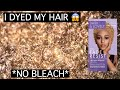 QUARANTINE GOT TO ME | I DYED MY NATURAL HAIR.... BLACK TO BLONDE?!?! *NO BLEACH* | TYPE 4 HAIR