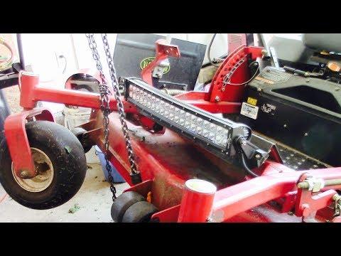 Zero Turn Tractor Lights Install Youtube