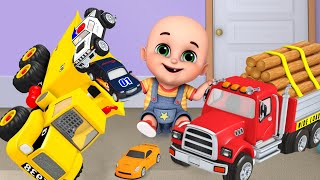 Construction Vehicles Toys Police Car, Excavator, Fire Trucks~! TOYS live 02