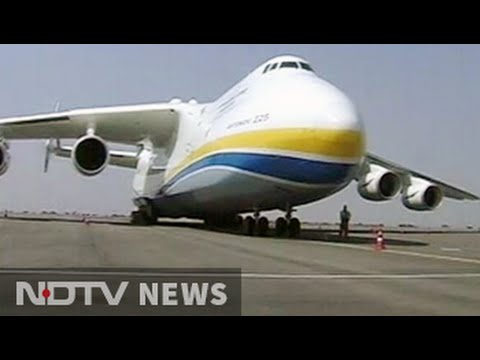 Antonov An 225 Mriya World S Largest Plane Lands In
